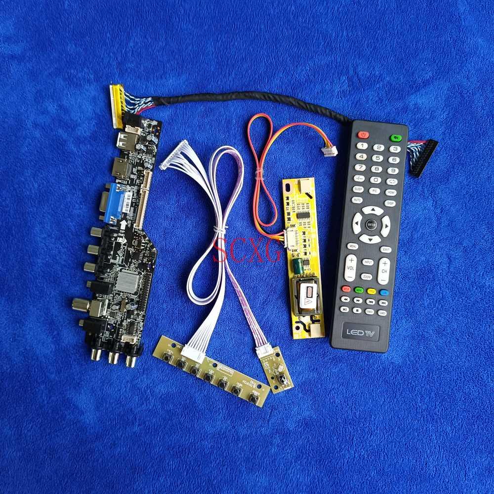 عدة 2-CCFL HDMI-متوافق VGA USB LCD شاشة محرك المجلس صالح LTN154X5/LTN154X9/LTN154XB 1280*800 DVB إشارة رقمية LVDS 30 دبوس