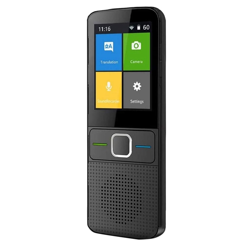 جهاز مترجم اللغة ، مع جهاز الترجمة في وضع عدم الاتصال ، وشاشة الضغط ، و 13 دولة للترجمة الصوتية غير المتصلة بالإنترنت