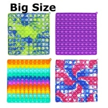Big Size Push it pop pop Bubble Squeeze Sensory Fidget Autism Special Needs Silicone Stress Reliever