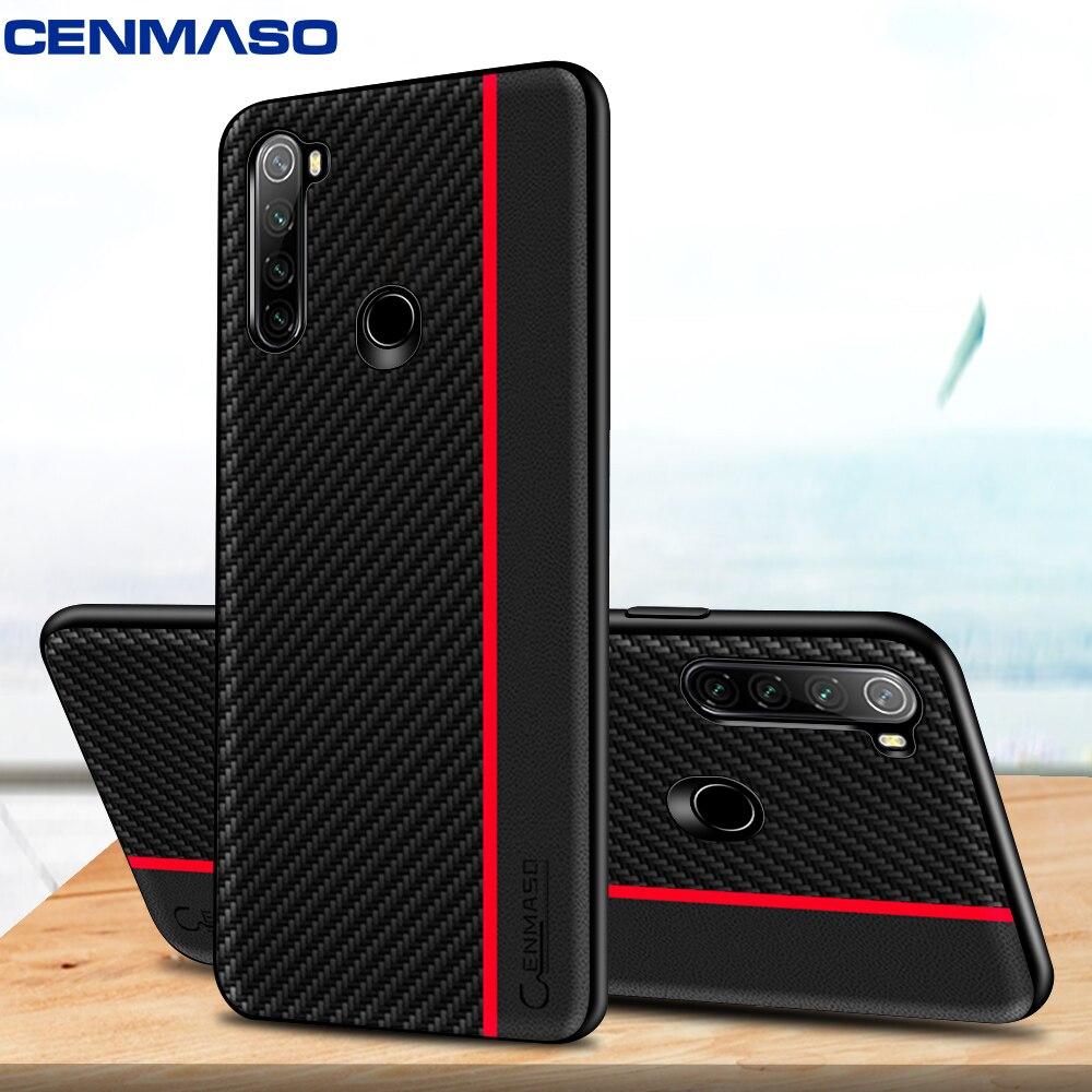 Para o vermelho mi nota 8 t caso original de fibra carbono couro proteger capa para xiao mi nota 10 vermelho mi k30 cc9 pro nota 8 pro 7a 8a caso