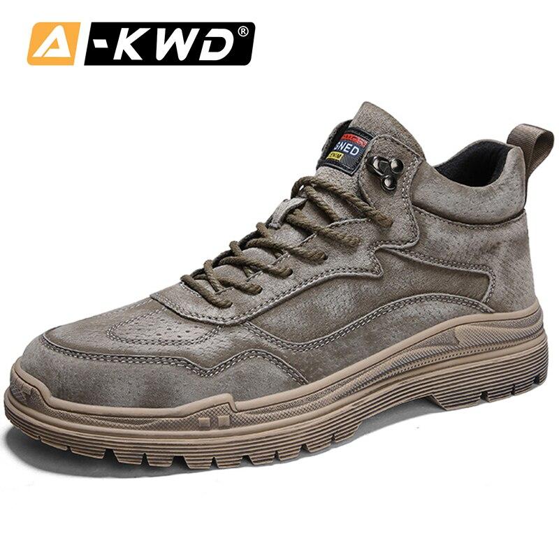 2019 موضة أحذية رياضية حذاء رجالي Chaussure أوم عالية أعلى حذاء برقبة للعمل الرجال الخريف أحذية رياضية من الجلد رجل تنفس مان أحذية غير رسمية