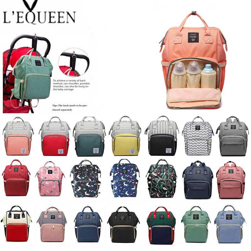 LEQUEEN, nueva bolsa de pañales de mamá, cochecito de bebé, bolsa impermeable Oxford, bolso de mujer, maternidad, enfermería, mochila de pañales, bolsas de viaje