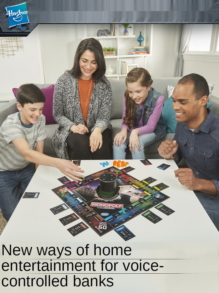 Настольная игра Hasbro, оригинальная монополия, летающая игра, шахматы, электронный банковский голосовой контроль, настольная игра, игрушки