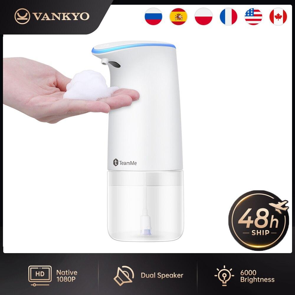 Dispensador de Sabão Lavagem da Mão para Cozinha Vankyo Teamme Inteligente Automático Líquido Indução Espuma Dispositivo Banheiro