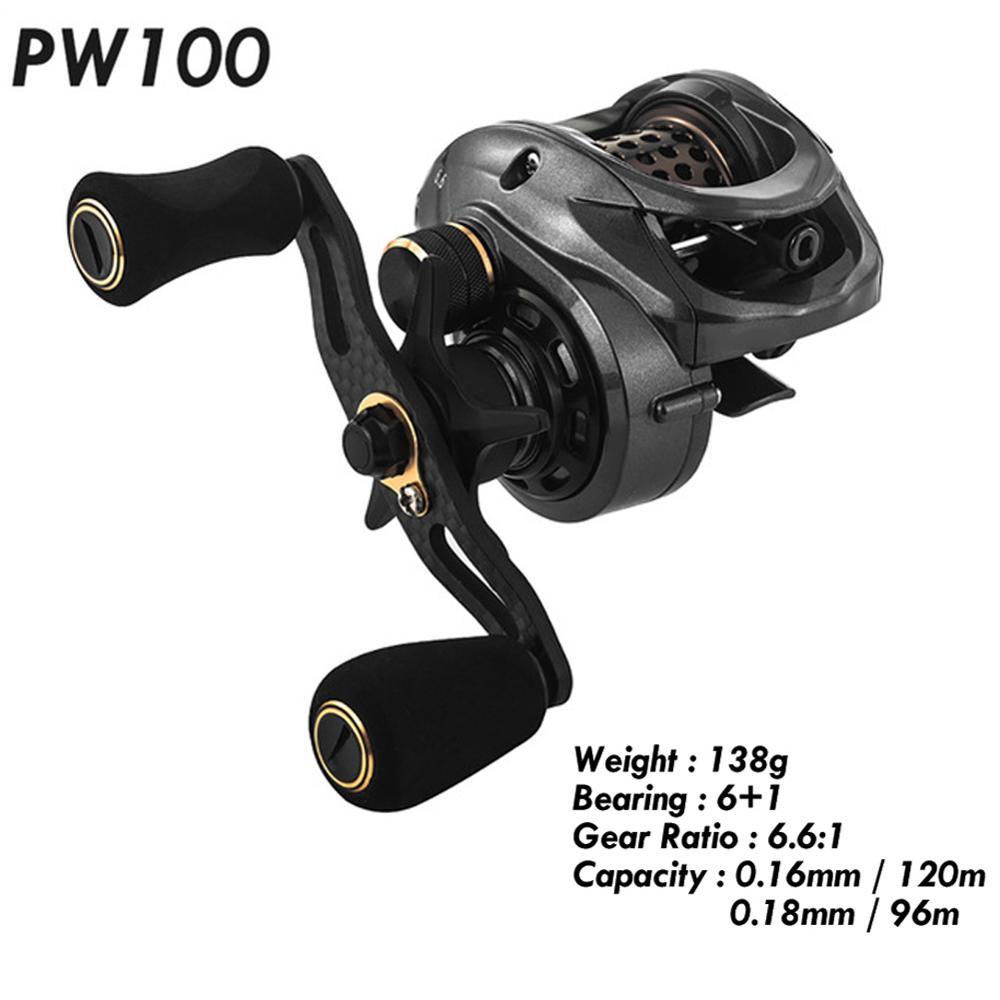 Fishing Reel PW100 6.61 Carp Baitcast Casting Carbon Fiber Body Fishing Reels