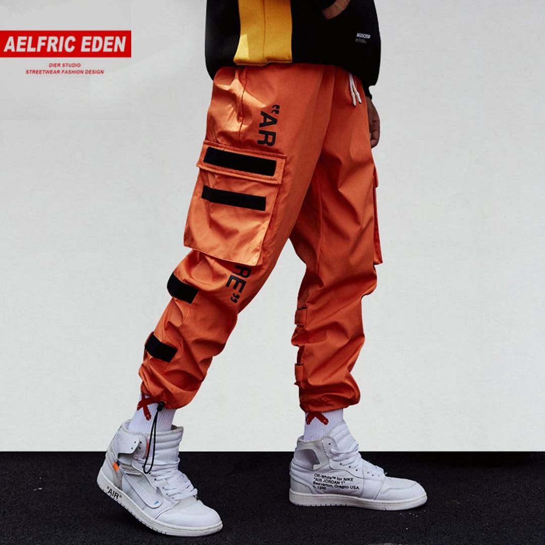 Aelfric Eden Side Pockets Harem Cargo Pants Men 2019 Hip Hop Sweatpants Male Tatical Joggers Trousers Mens Casual Streetwear Men