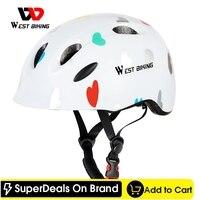 WEST BIKING Kids Helmet Bicycle EPS Ultralight Children's Protective Gear Girls Boys Cycling Riding Sports Safety Cap Helmet