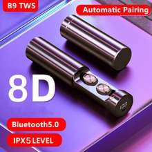 8D Earphones Wireless TWS Bluetooth 5.0 Headphone Stereo Sports Waterproof Earbuds Headsets With Mic