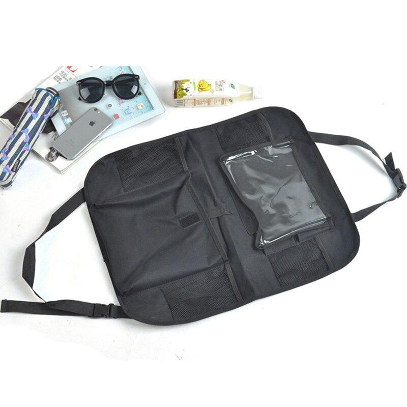 1 Pc Car Seat Storage Hanging Bag Storage Bag All Black New Multifunctional Car Rear Seat Storage Bag Accessories