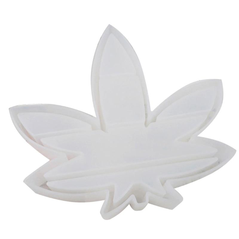 Большой лоток с листьями-форма для литья под давлением в виде кленового листа полка силиконовая форма для литья под давлением поднос для юв...