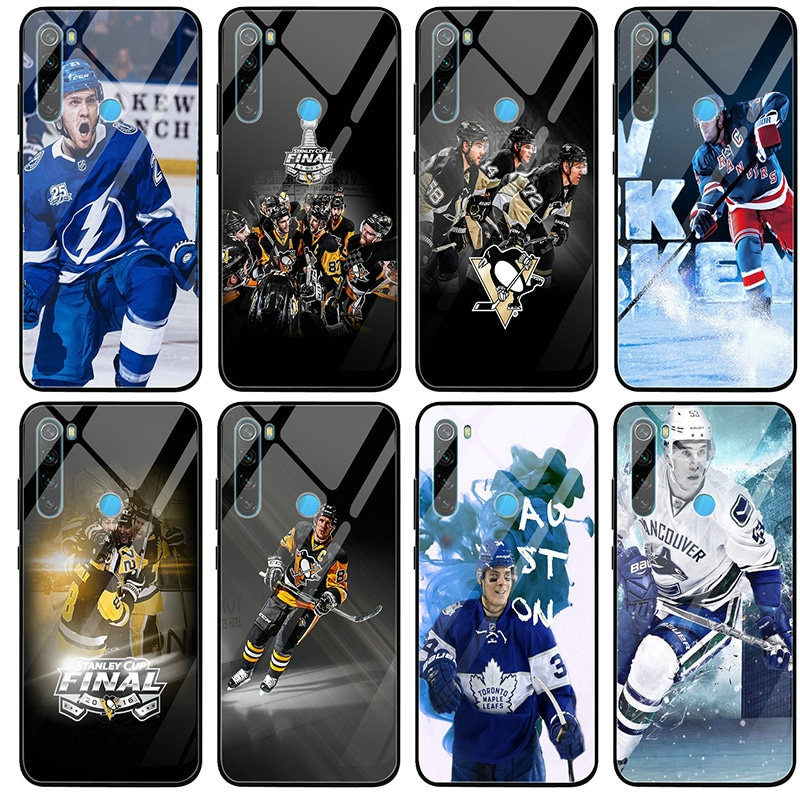 Fundas de teléfono móvil de vidrio templado para Xiaomi Mi Redmi Note 4 4X 5A 5S S2 7 7A 8 8A 9 SE A1 A2 Lite Plus bolsas de Hockey Sport