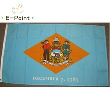 USA Delaware State Flag 2ft*3ft (60*90cm) 3ft*5ft (90*150cm) Size Christmas Decorations for Home Fla