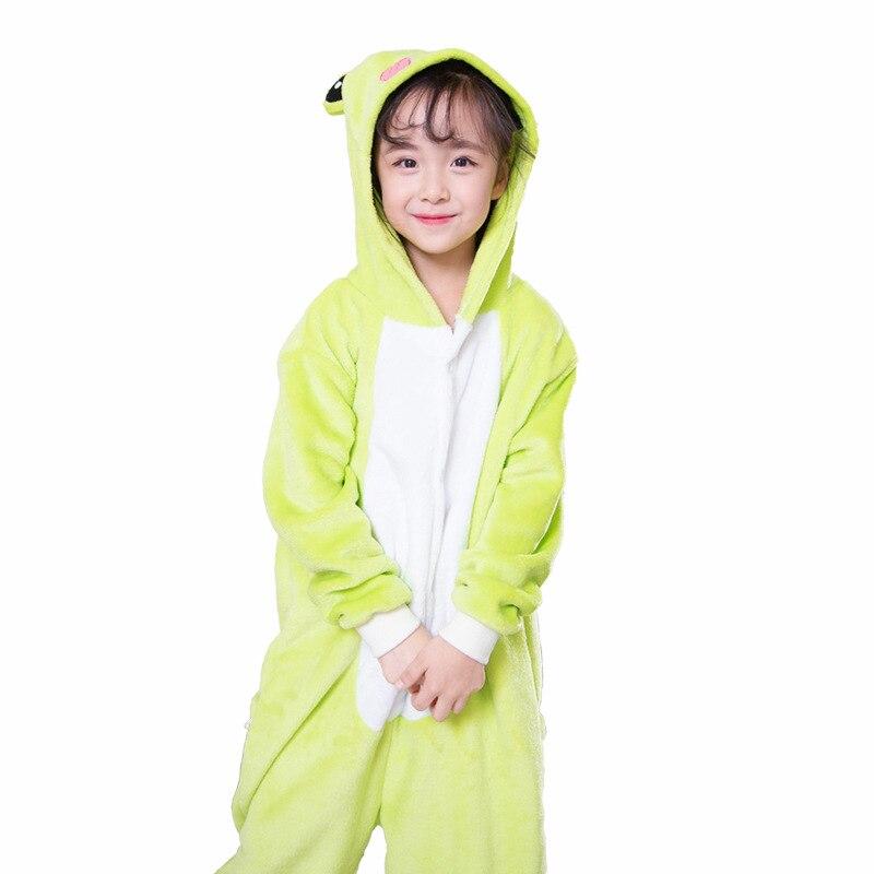 Nuevo tipo RANA encapuchado niños Onesie pijamas de invierno niños ropa de dormir niños pijamas niños saco de dormir Plit pierna Navidad Cosplay