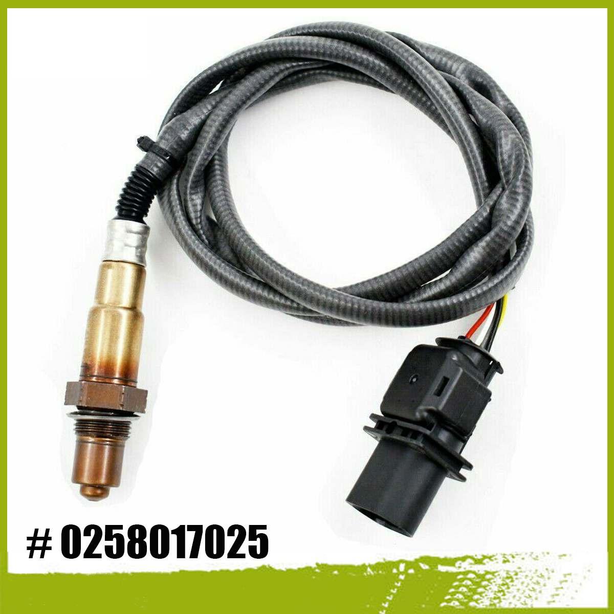 Hohe Qualität 0258017025 LSU 4,9 Luft Kraftstoff Sauerstoff Sensor Breitband O2 Abgas Sauerstoff Sensor LSU 4,9 17025 5 Draht