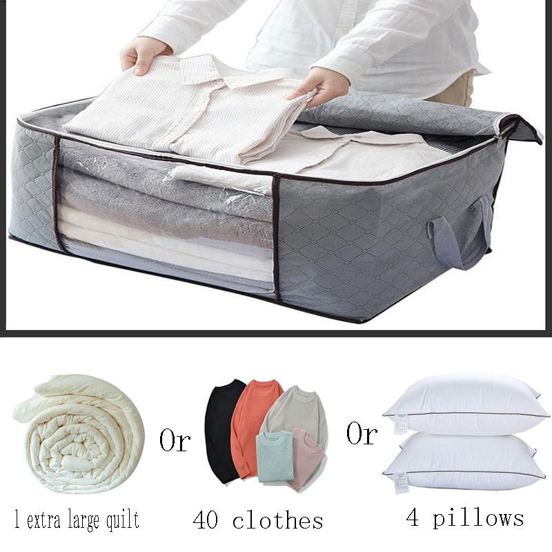 AliExpress - Non-Woven Clothes Quilt Storage Bag,Thickened Transparent Zipper Lock Zipper Lock Quilt Storage Bag,Dust-proof Quilt Storage Bag
