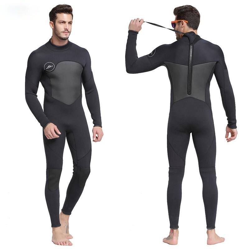 الرجال 1.5 مللي متر النيوبرين بذلة عالية المرونة خياطة الدافئة تصفح معدات غطس قنديل البحر ملابس طويلة الأكمام بذلة