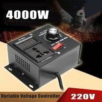 Регулятор напряжения 220 В, 4000 Вт, регулятор скорости вентилятора, регулятор скорости двигателя, регулировка температуры, напряжения