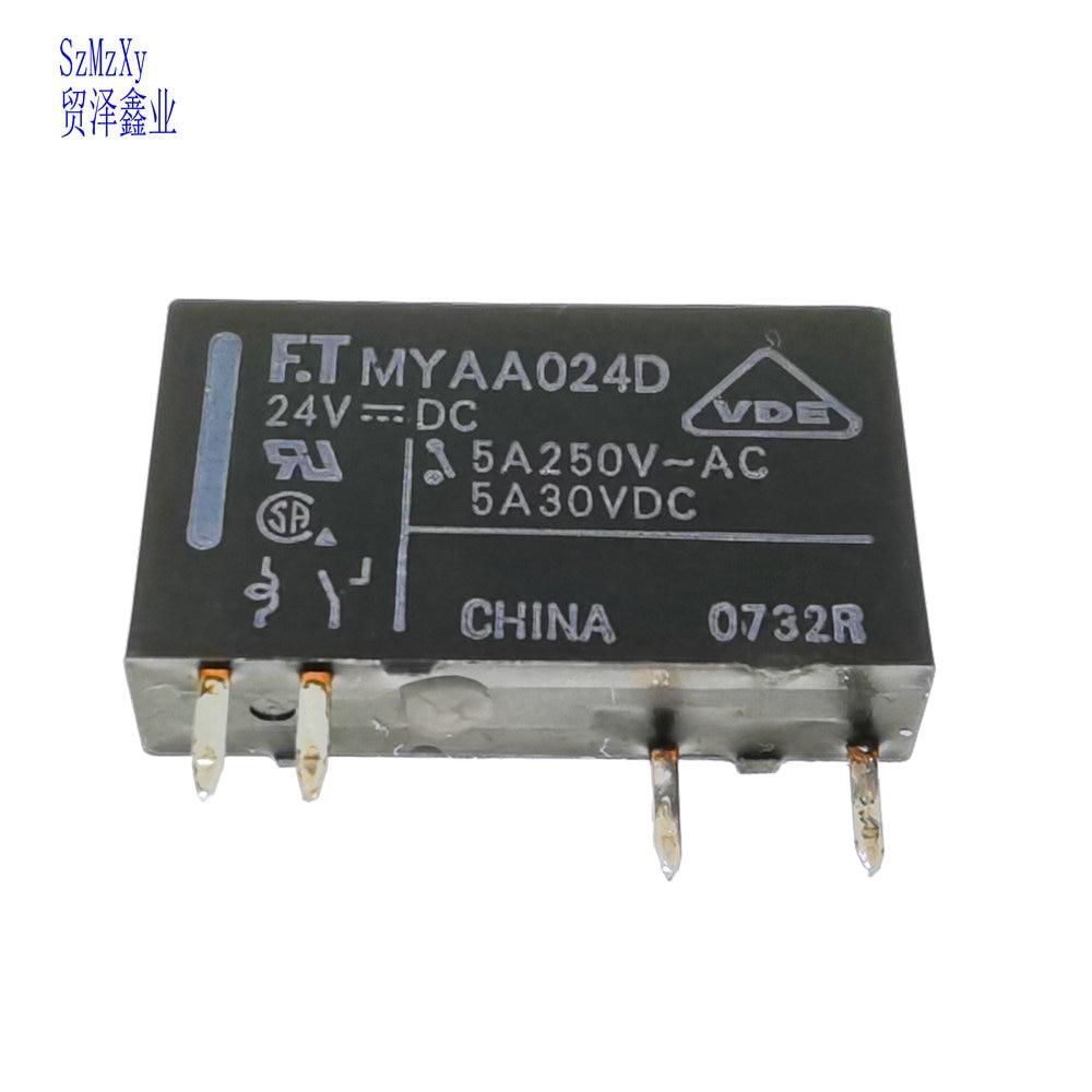 1PCS Relé MYAA024D MYAA024 5A 24V DIP4 FTR-MYAA024D 24VDC Novo & Original