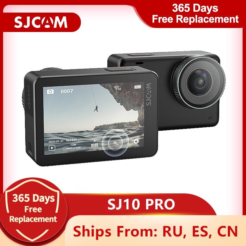 Экшн-камера SJCAM SJ10 Pro, водонепроницаемая Спортивная камера, 4K, 60fps, Wi-Fi, гироскоп, стабилизация, Ambarella H22, корпус 10 м