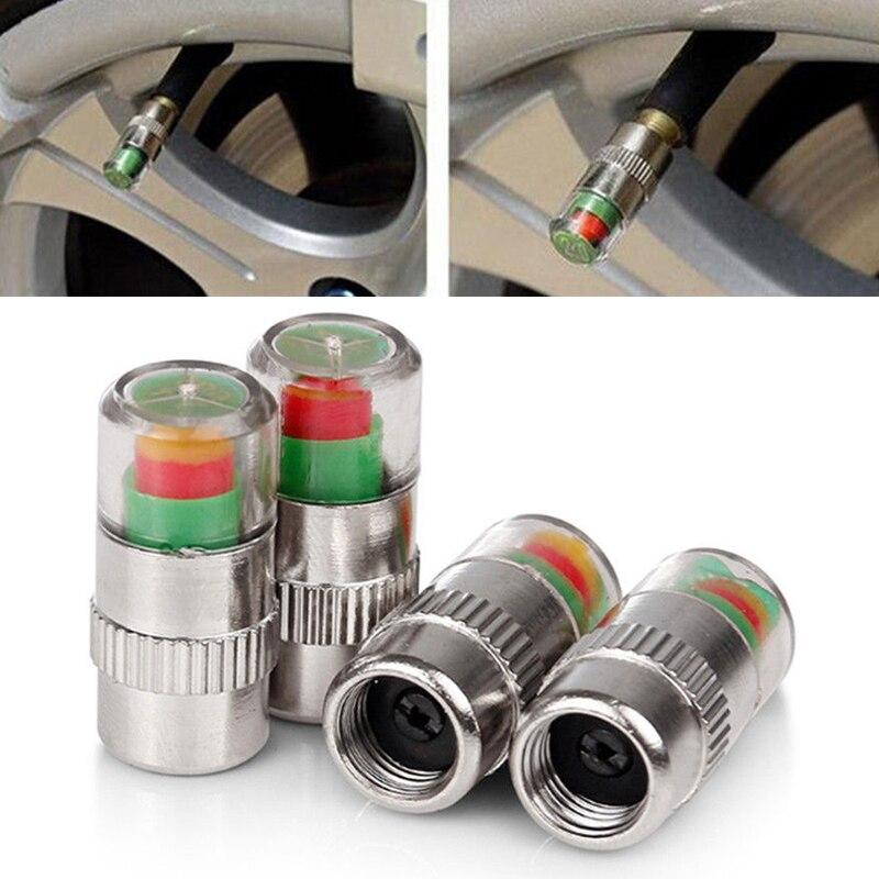 Novo 4 pçs tampas de válvula do carro auto monitor pressão gage alerta sensor indicador válvula tampas pneus roda válvulas haste do pneu tampas ar tslm1
