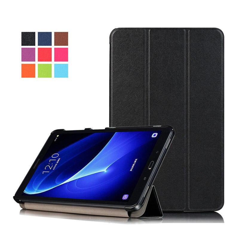 Складная подставка Магнитный чехол для планшета защитный чехол для Samsung Galaxy Tab 10,1 SM-T580 SM-T585 2016 чехол
