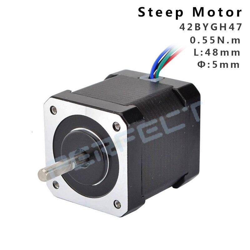 42BYGH47 Nema17 0.55N Motor paso a paso 42 motor Nema 17 42BYGH 1.8A motor 4-plomo para impresora 3D 48mm