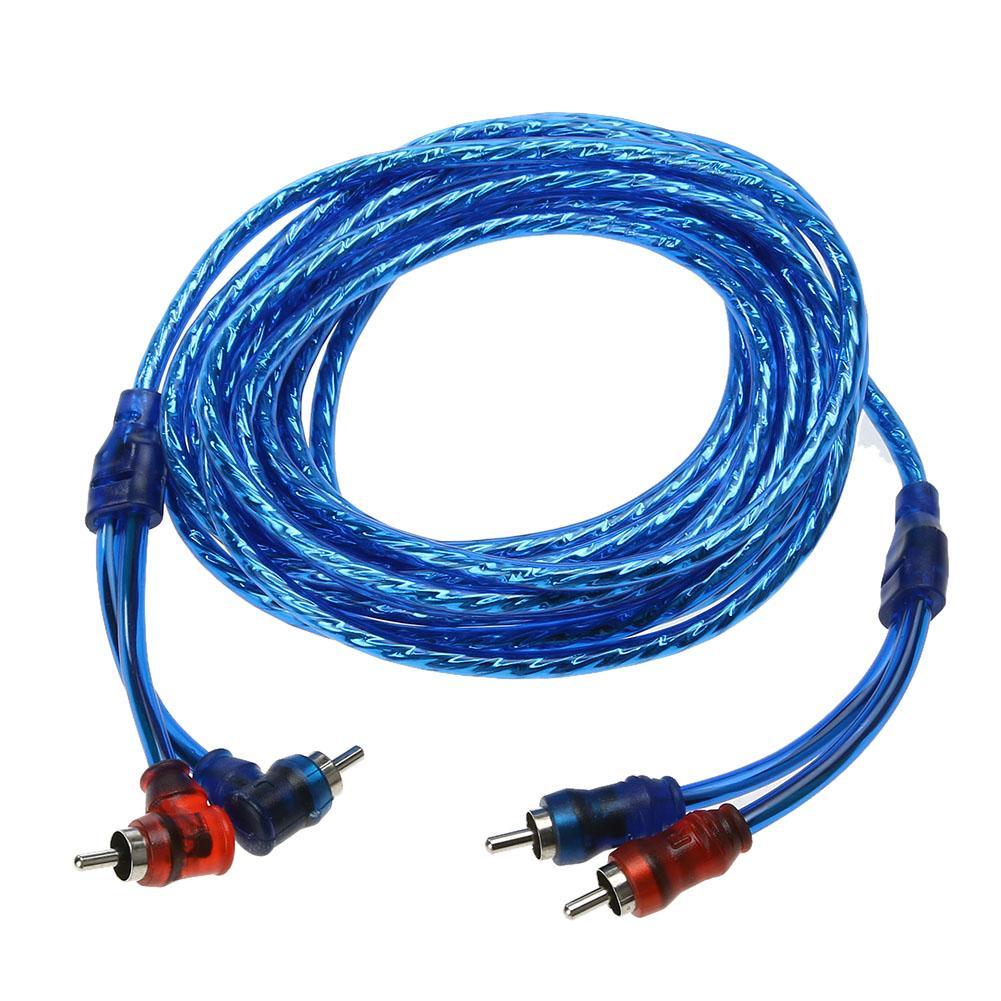 5 м 2 RCA на 2 RCA разъем для автомобильной аудиосистемы усилитель плетеный медный кабель Кабели VGA      АлиЭкспресс