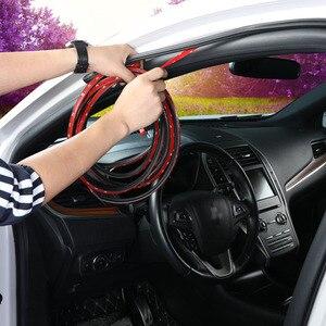 Image 2 - Резиновая уплотнительная лента L типа для автомобильной двери, двухслойные уплотнительные клейкие наклейки, автомобильные аксессуары для интерьера автомобиля