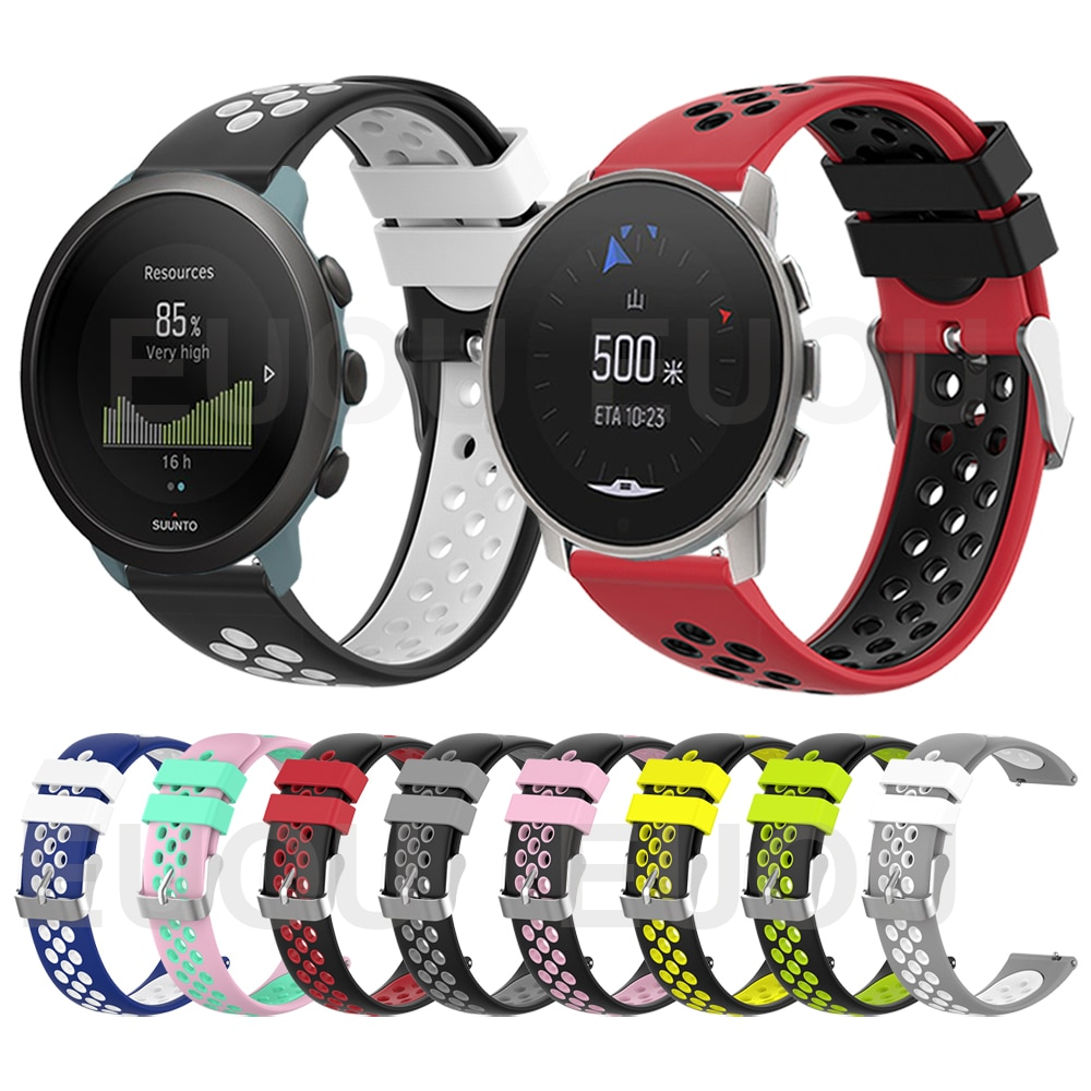 watchband for suunto 9 peak suunto 3 watch strap band soft silicone wristband bracelet replace accessories Colorful Sports Silicone Strap For SUUNTO 9 PEAK Band Wristband For SUUNTO 3 Bracelet Watchband Replace Accessories