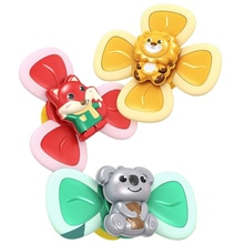 Children Classic Funny Kids Toys Cute Cartoon Insects Suction Cup Spinner Toy Baby Rattle Spin Top B