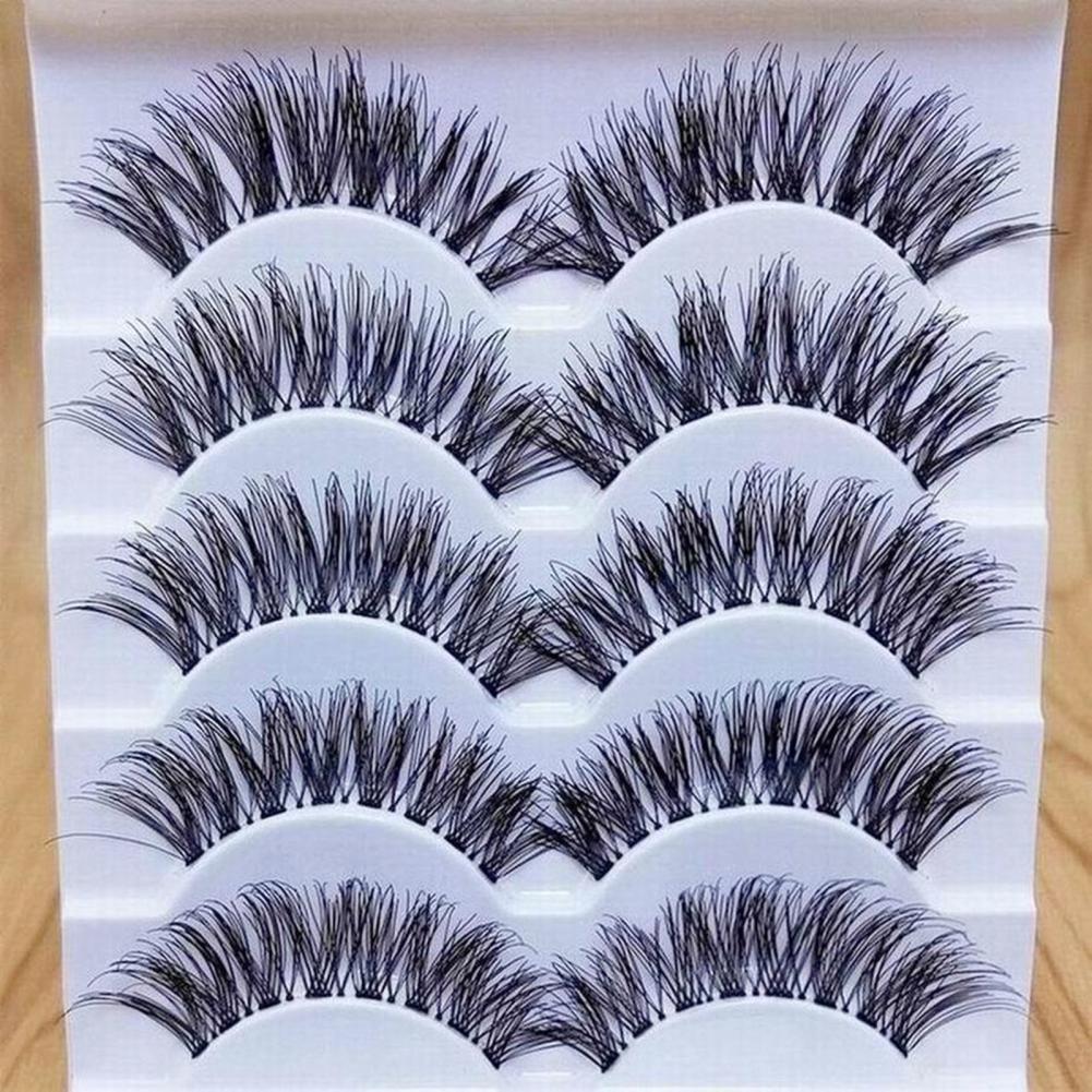 50% Hot Sale 5 Pairs False Eyelashes Attractive Comfortable Natural Look Eye Makeup Natural False Ey