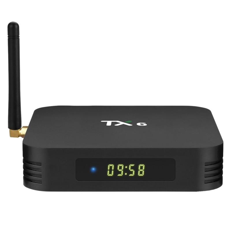 TX6 TV BOX Allwinner H6 Android 9,0 caja de TV 4 + 64G Dual-banda WiFi reproductor de red 1080P HD Set-Top BOX (enchufe de la UE)