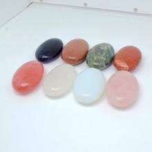 Massage en pierre naturelle de massage de pierre chaude dénergie de station thermale raclant lovale plat fin de pierre à aiguiser 40*60*21mm