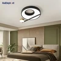 Rond maison deco lampes moderne LED lustres lumieres pour chambre salon salle a manger Dimmable eclairage interieur Luminaire AC90-260V