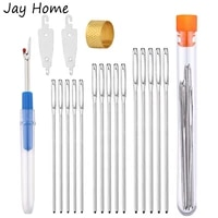 sewing needles kit 15pcs large eye blunt needles seam ripper thimbleneedle threader for embroidery hand diy knitting project