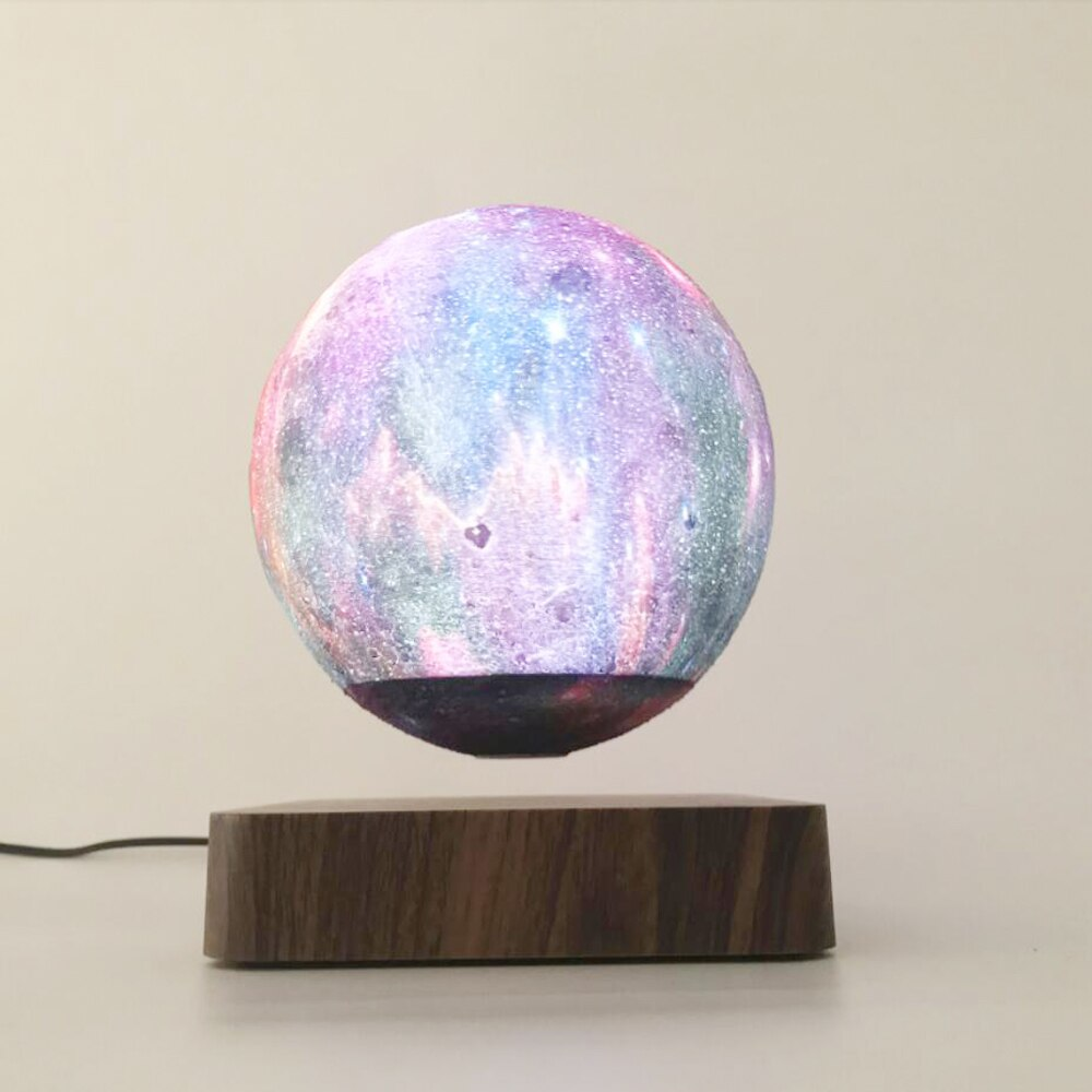 LED Night Light Floating Creative Touch Magnetic Levitation 3D Colorful Moon Light Rotating Moon Floating Holiday Gift Light enlarge