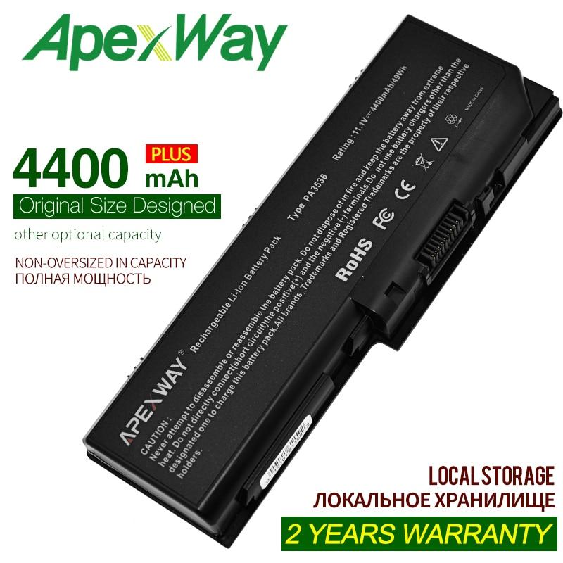ApexWay Аккумулятор для ноутбука Toshiba PA3536U-1BRS PA3537U-1BAS PABAS100 PABAS101 Satellite L350 L355 P200 P205 P300