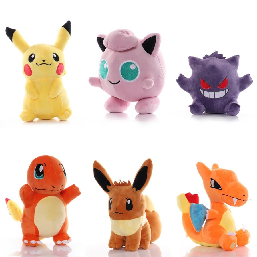 40 style Plush toys 26-55CM Cute Pokemon evolution Pikachu Charizard Eevee Stuffed Animals plush doll soft baby collection toy