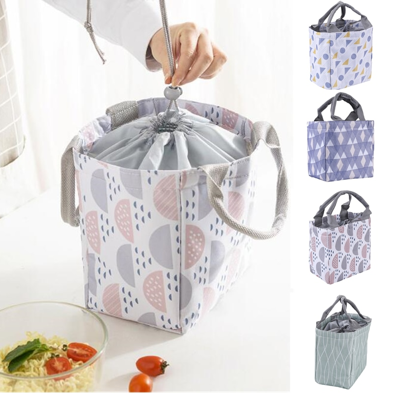 Portable Lunch Bag New Thermal Insulated Box Tote Picnic Cooler Bento Pouch Container School Food Storage Bags