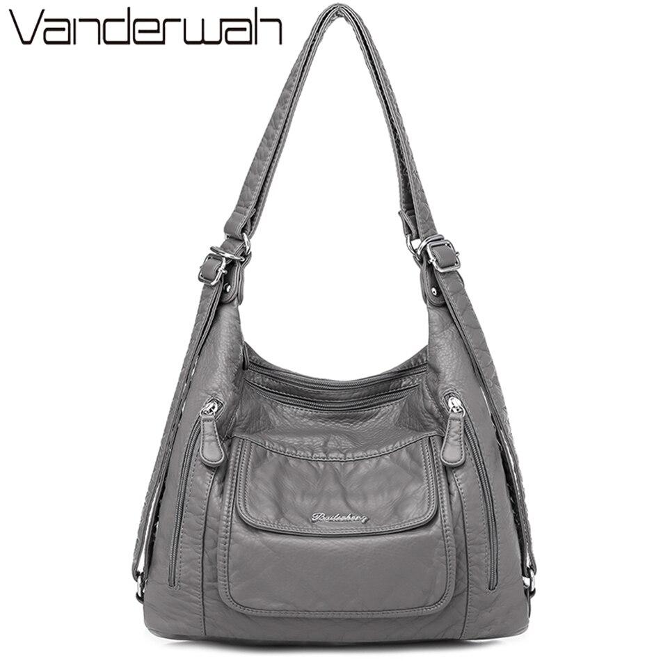 Quality Leather Luxury Handbags women bags designer Multifunction Shoulder Bags for Women 2021 Travel Back Pack Mochila Feminina