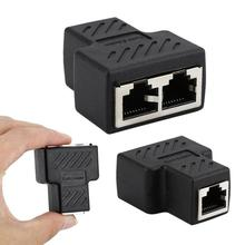 Nouveau connecteur adaptateur 1 à 2 LAN RJ45 huit cœurs Standard prise Jack diviseur prise dextension pour câble réseau Ethernet en Stock