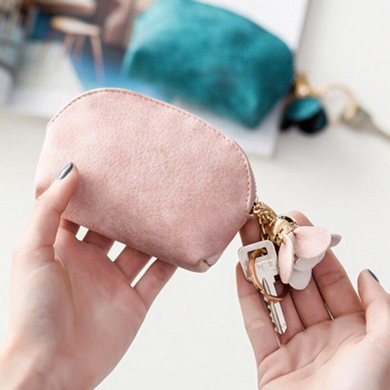 2020 Women Leather Small Mini Wallet Holder Female Wallet Case Clutch Carte Porte Card Key Money Bag