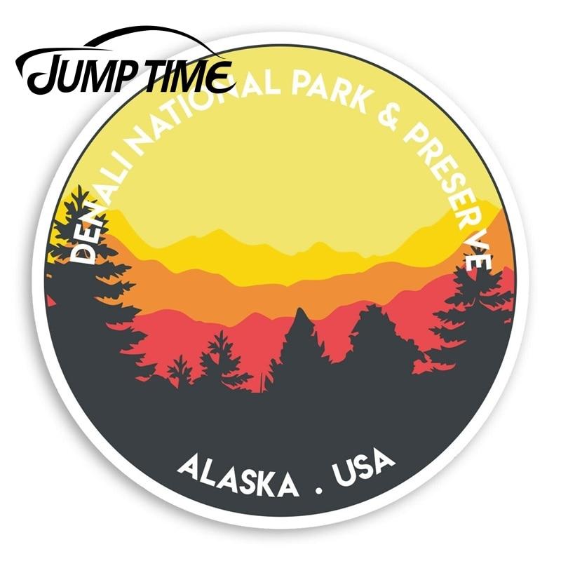 Pegatinas de vinilo del Parque Nacional Denali Jump Time, pegatina adhesiva de...