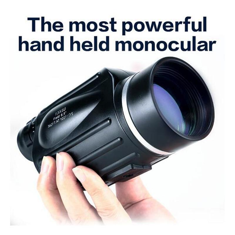 Binóculos à Prova Água de Alta Potência ao ar Gomu Prisma Telescópio Monocular Rangefinder d' Livre Turismo Lll Visão Noturna Luneta 13×50 Bak4