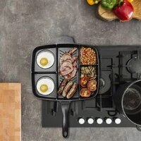 five in one nonstick breakfast frying pan multi function omelette pan non stick divided grill pan crepe maker kitchen utensils