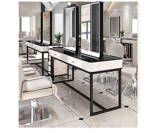 Парикмахерская зеркала Тайвань чистый красный светильник Зеркало для парикмахерской Тайвань парикмахерский салон специальные односторон...