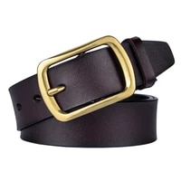 2021new fashion designer genuine leather mens high quality buckle jeans cowskin casual belts man business cowboy waistband male
