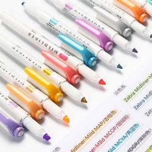 3/5 Japanese ZEBRA WKT7 Mildliner light double-headed highlighter set color drawing marker pen