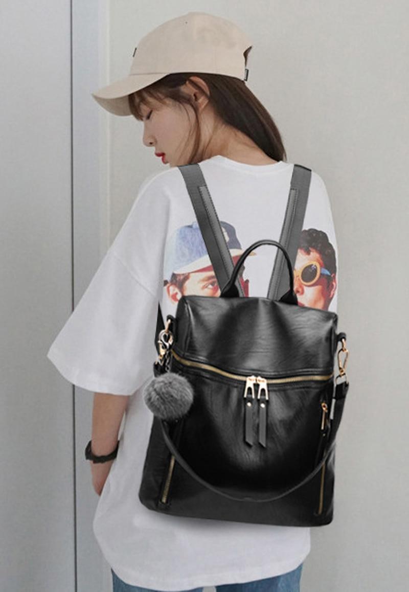 Mochila Hipster de cuero 20pu para mujer, mochila artística, mochila transparente, mochila trasera, Mochila pequeña
