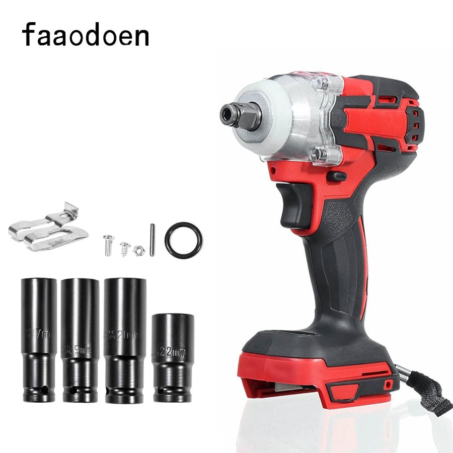 18V 350N.m Brushless Impact Wrench Cordless Electric Wrench Power Tool Torque Rechargeable For Makita Battery